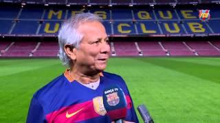 Nobel Winner Dr. muhammad yunus invited by FC Barcelona