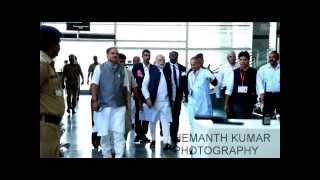 Narendra Modi Landing in Mangalore Airport