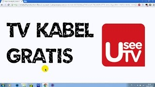 TV Kabel Gratis secara Streaming di Usee TV