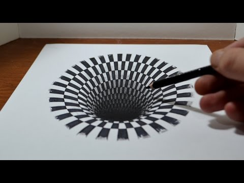 Drawing a Hole Anamorphic Illusion