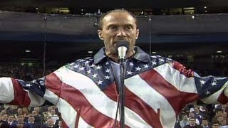 """2001 WS Gm4: Lee Greenwood sings """"God Bless the USA"""""""