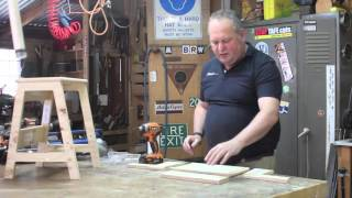 Constructing a flat pack step stool WEB