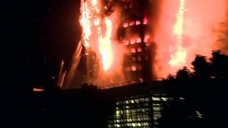 حريق هائل يلتهم برجا مكونا من 27 طابقا في لندن