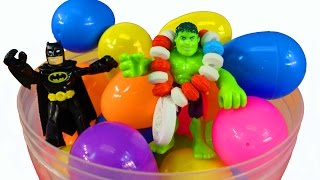 Learn Colors Learn Numbers And Easter Egg Hunt Fun With Imaginext Batman Robin Spider-man Hulk