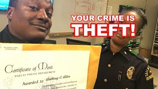 DALLAS POLICE TYRANT - Your Crime Is Theft - See Description