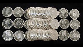 my entire canadian silver dollar collection