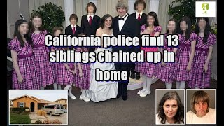 California police find 13 siblings chained up in home