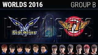 Flash Wolves vs SK Telecom T1 Highlights, S6 World Championship 2016 Day 8 Group B, SKT vs FW