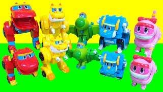 고고다이노 공룡탐험대 미니 장난감 로키 렉스 핑 토모 비키 사운드 변신로봇 영상 Go Go Dino Mini & Sound Dino toys