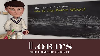 The Laws of Cricket | LBW - Leg Before Wicket | Hindi Version