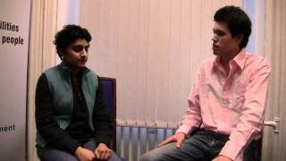 Archana (Level 2 Psychology ) and Andrew (College Ambassador of the Enterprise Gym)
