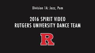 Rutgers University Dance Team - Spirit Tape 2016