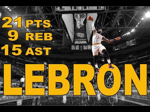LeBron Puts Up 21/9/15 in Win