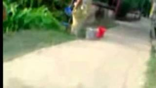 Desi aunty bathing open roadside Tap