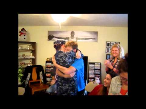 U.S Navy Sailor Homecoming Sister surprises Brother