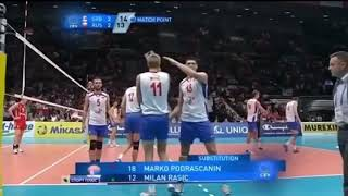 Serbia wins by cheating against Russia. Error by the referee.