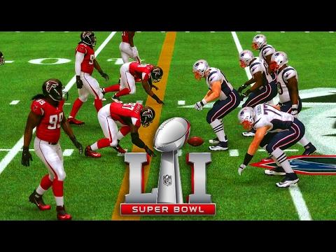 PATRIOTS or FALCONS NFL Super Bowl LI Madden 17 Prediction Simulation