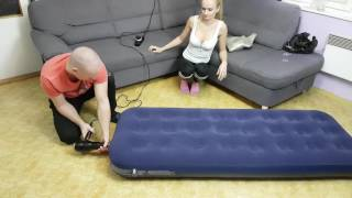 Life hack how to inflate fitball and air bed without a pump