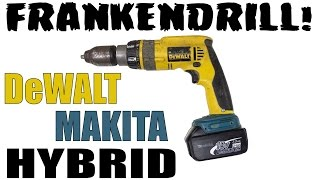Making Frankendrill - DeWalt Drill With A Makita Battery