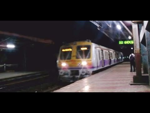 Early Morning Local Arriving At The Platform Mumbai India [HD VIDEO]