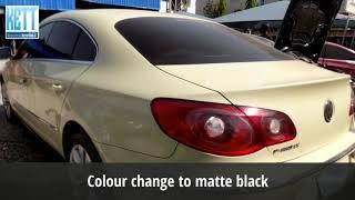PASSAT CC Body Restoration - Colour change to black