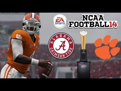 ALABAMA vs CLEMSON NATIONAL CHAMPIONSHIP NCAA Football 2014