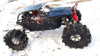RC ADVENTURES - Acclimatizing Tire & Rim Pressure for Winter Trails - BLACK WiDOW - AXiAL ROCK RACER