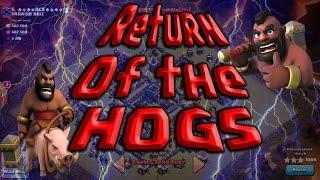 NEW Low Hero Hog Attacks TH9. GoHo + GaVaHo. 3 Star High War Attacks. Clash of Clans