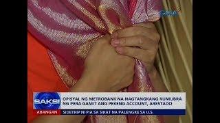 Saksi: Opisyal ng Metrobank na nagtangkang kumubra ng pera gamit ang pekeng account, arestado7 5