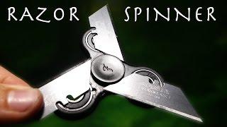RAZOR BLADES On a Fidget Spinner?!?! - NINJA STAR Spinner!!! (Bad Idea)