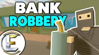 BANK ROBBERY! - Unturned Roleplay Thief Life (Robbing Banks Is Easy With A Helicopter)
