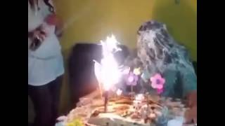 Fired up for his birthday funny video