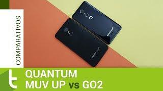 Comparativo: Quantum Muv Up vs GO2 | Review do TudoCelular