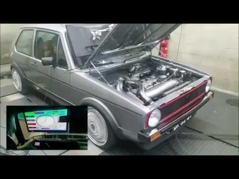 Dyno VW Golf I 2.0L 16V ABF 347hp KMS MP25