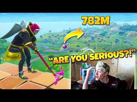 Ninja Reacts to The Best Golf Trickshot of all Time Twitch Moments Fortnite Reaction