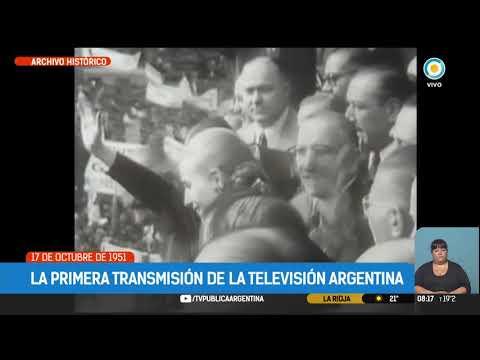 La primera transmisión de la Televisión Argentina | #TPANoticias