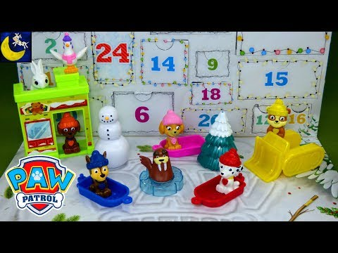Paw Patrol Surprise Toys the Christmas Advent Calendar Toy Reveal 2018 Chase Skye Video Count Down