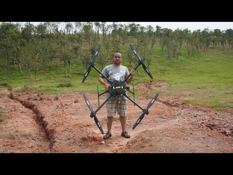 Flight of the Giant Quadcopter
