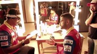 RCB Insider crashes Kohli's shoot!