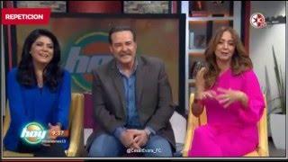 Cesar Evora y Victoria Ruffo en Hoy 1