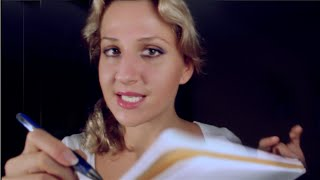 PSYCHOLOGICAL TEST: CLOSE UP ASMR whispering, SOFT speaking & page turning
