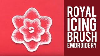 Learn How to do Royal Icing Brush Embroidery
