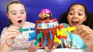 Pop Up Pirate Toy Challenge   Pikmi Pop Surprise Lollipop Prizes   Family Fun Video