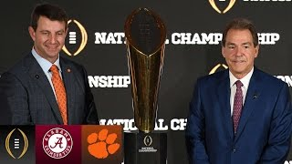 Dabo Swinney & Nick Saban On Shortened Preparation Time | Inside The National Championship