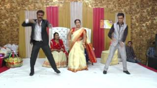 New Indian Wedding Dance by Bride parents & Brother on KAJRARE song October 2016