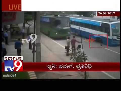Running BMTC Bus wheel Cut Automatically, No Casualty Reported
