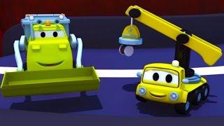 Construction Squad: Dump Truck Crane & Excavator build a Tyrolienne for Baby Trucks Car City 🚚🚗️🚛