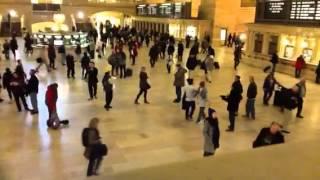 Flash mob hula or busted... MPI at grand central station