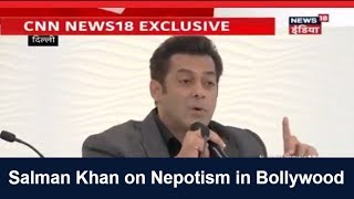 Salman Khan talks about Nepotism in Bollywood #HTLS2017