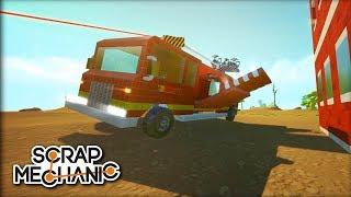 Last Minute Fire Truck!!! - Scrap Mechanic Neebs Build